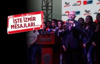 CHP Lideri Kılıçdaroğlu, İzmir'den seslendi