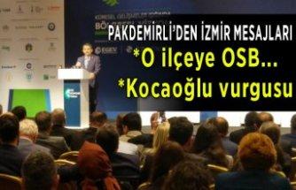 Pakdemirli'den İzmir'e müjde! O ilçeye OSB kurulacak