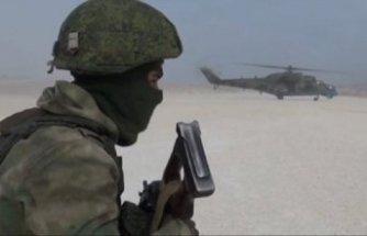 Rus ordusu ABD askerlerinin terk ettiği üsse böyle girdi!