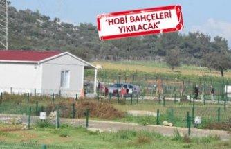 Tarım arazileri üzerindeki hobi bahçelerine para cezası
