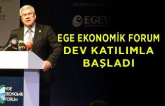 """""""Yarın için hayal et"""" sloganlı Ege Ekonomik Forum başladı"""
