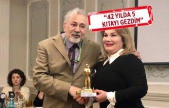 110 ülke gezerek 'Altın Gezgin' ödülünü aldı