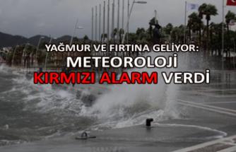Yağmur ve fırtına geliyor: Meteoroloji kırmızı alarm verdi