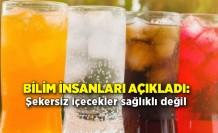 Bilim insanları açıkladı: Şekersiz içecekler sağlıklı değil