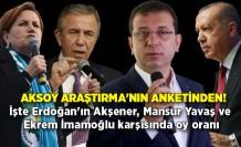 İşte Erdoğan'ın Akşener, Mansur Yavaş ve Ekrem İmamoğlu karşısında oy oranı