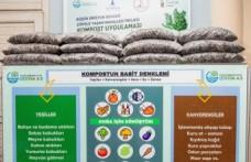 Sebze ve meyve atıkları organik gübreye dönüşüyor