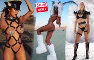 Burning Man'de kıyafetler yine yürek hoplattı