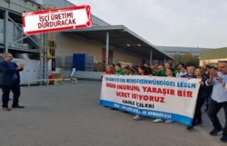 Ege Serbest Bölge'de 550 işçi grev ilanını...