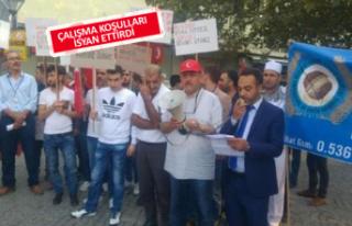 İzmir'de fırın işçilerinden protesto