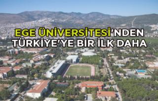 Ege Üniversitesi'nden Türkiye'ye bir ilk...