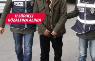 İzmir merkezli suç örgütü operasyonu zanlıları...