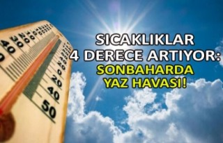 Sıcaklıklar 4 derece artıyor: Sonbaharda yaz havası!