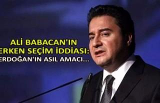 Ali Babacan'ın erken seçim iddiası: Erdoğan'ın...