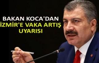 Bakan Koca'dan İzmir'e vaka artış uyarısı