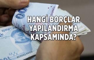 Hangi borçlar yapılandırma kapsamında?