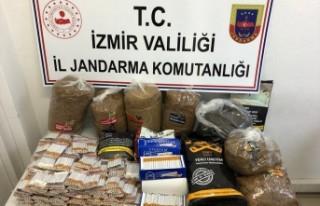 İzmir'de kaçak tütün ve sigara operasyonu
