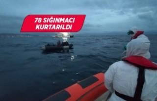 İzmir'de Türk kara sularına itilen 78 sığınmacı...