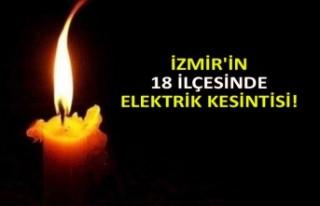 İzmir'in 18 ilçesinde elektrik kesintisi!