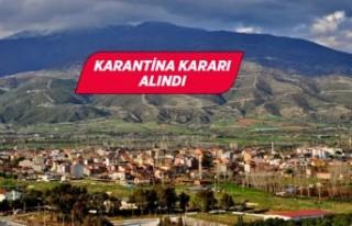 İzmir'in o ilçesi karantina altına alındı!