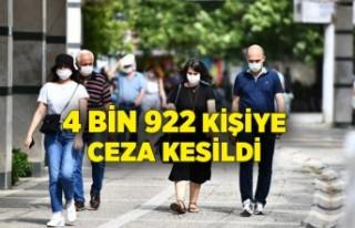 Koronavirüs tedbirlerine uymayan 4 bin 922 kişiye...