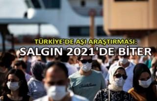 Türkiye'de aşı araştırması: Salgın 2021'de...