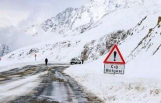 4 il için kar ve çığ uyarısı