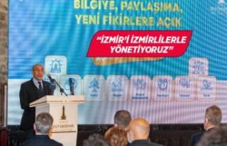 Başkan Soyer açık veri portalının tanıtım toplantısında...