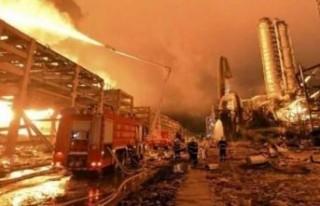 Çin'de fabrikada patlama: 1 ölü, 20 yaralı