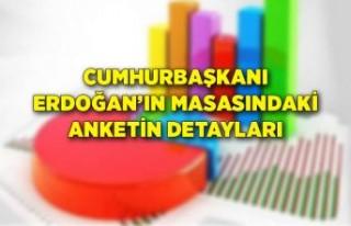 Cumhurbaşkanı Erdoğan'ın masasındaki anketin...
