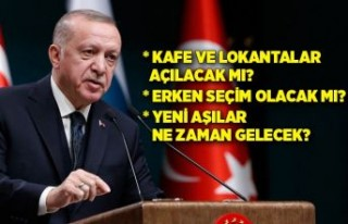 Cumhurbaşkanı Erdoğan'dan lokanta ve kafeler...