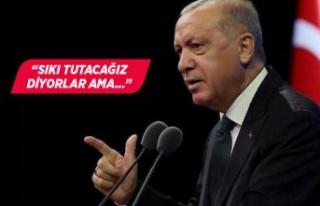 Erdoğan'dan 'restoranlarda esneme'...
