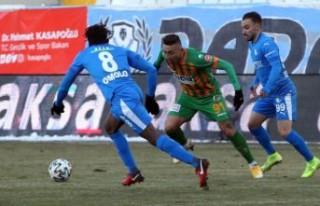 Erzurumspor: 1 - Aytemiz Alanyaspor: 1