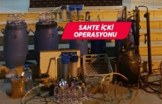 İzmir Aliağa'da 159 litre sahte içki ele geçirildi