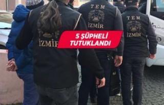 İzmir'de FETÖ operasyonu! 5 şüpheli tutuklandı
