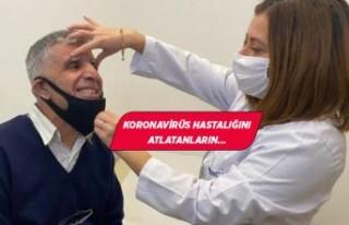 İzmir'de korona tedavisi gören vatandaş kısmi...