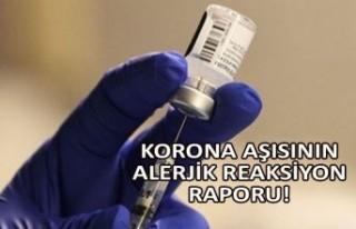 Korona aşısının alerjik reaksiyon raporu!