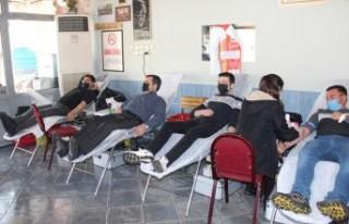 Ödemişli esnaftan kan bağışı kampanyası