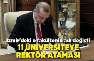 11 üniversiteye rektör ataması: İzmir'deki...