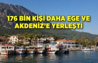 176 bin kişi daha Ege ve Akdeniz'e yerleşti