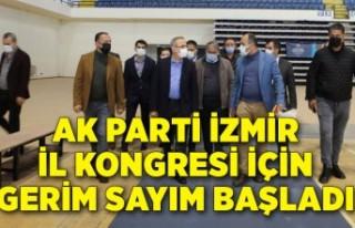 AK Parti İzmir İl Kongresi için gerim sayım başladı