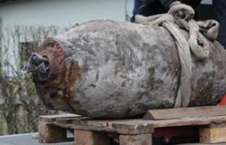 Almanya'da İkinci Dünya Savaşı'na ait bomba...