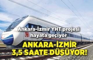 Ankara-İzmir 3,5 saate düşüyor!