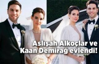Aslışah Alkoçlar ve Kaan Demirağ evlendi!