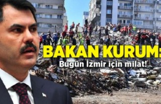 Bakan Kurum: Bugün İzmir için milat!
