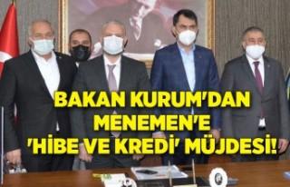 Bakan Kurum'dan Menemen'e 'hibe ve...