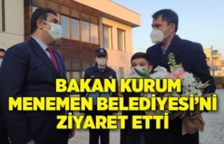 Bakan Kurum, Menemen Belediyesi'ni ziyaret etti