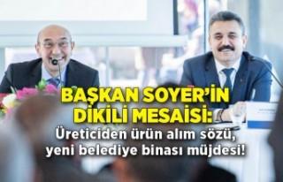 Başkan Soyer'in Dikili mesaisi: Üreticiden ürün...