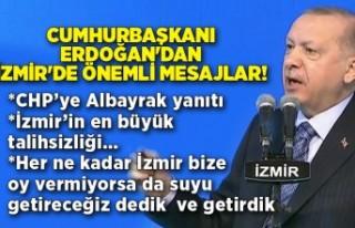 Cumhurbaşkanı Erdoğan'dan İzmir'de önemli...