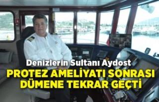 Denizlerin sultanı Aydost, protez ameliyatı sonrası...