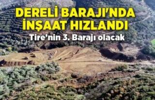 Dereli Barajı'nda inşaat hızlandı